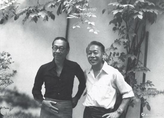 貝聿銘與趙無極,1976年