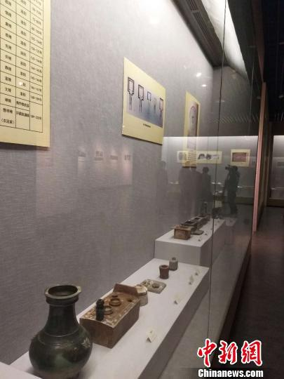 图为洛阳出土文物展。 杨大勇 摄