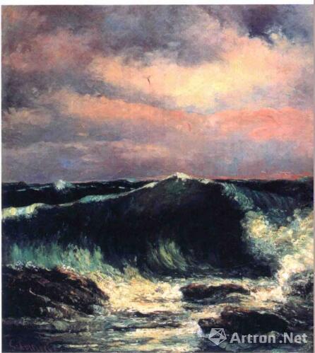 库尔贝 海浪 法国 1870年 松方幸次郎私人收藏 现藏于日本东京国立西洋美术馆