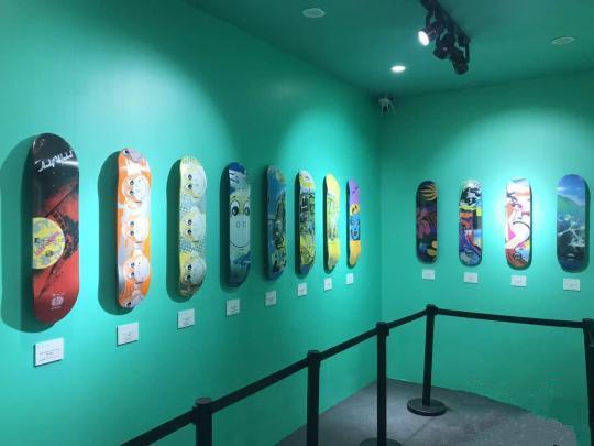 滑板艺术作品