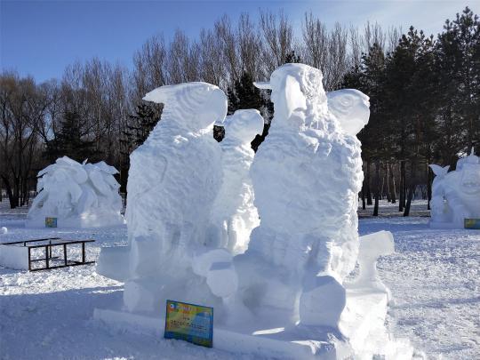 全国雪雕比赛获奖作品 太阳岛雪博会供图