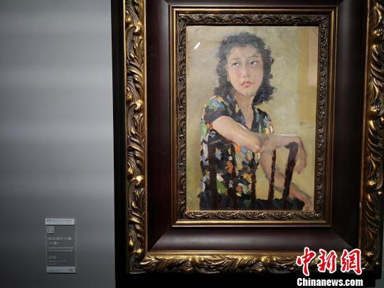 徐悲鸿作品油画《陆运涛夫人像》。 唐小晴 摄