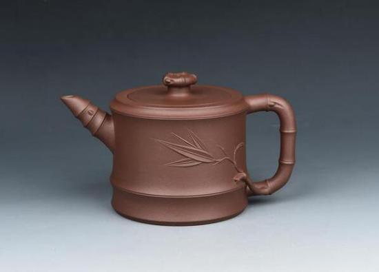 谈跃伟紫砂壶作品《天竹壶》
