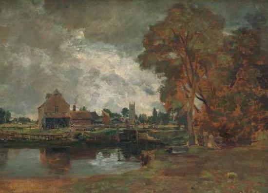 约翰·康斯太勃尔(1776-1837),布面油画 ,约1817 年,1910 年乔治·索尔廷遗赠