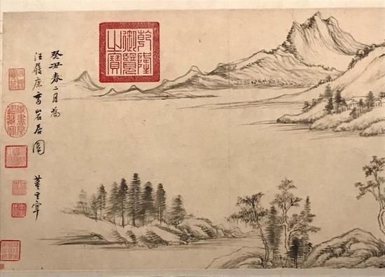 明 董其昌 《岩居图卷》局部 无锡博物院藏