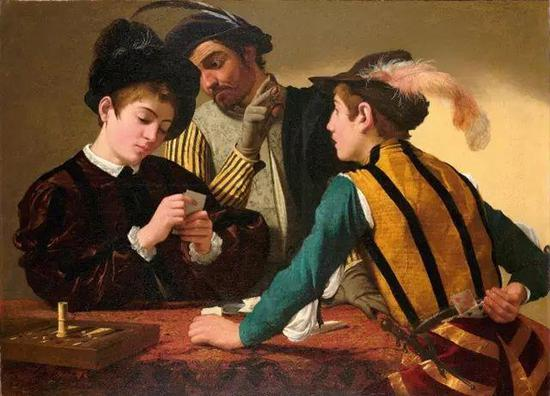 卡拉瓦乔,《玩纸牌的人》