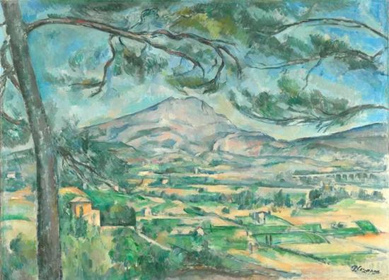 塞尚《有大松树的圣维克多山》