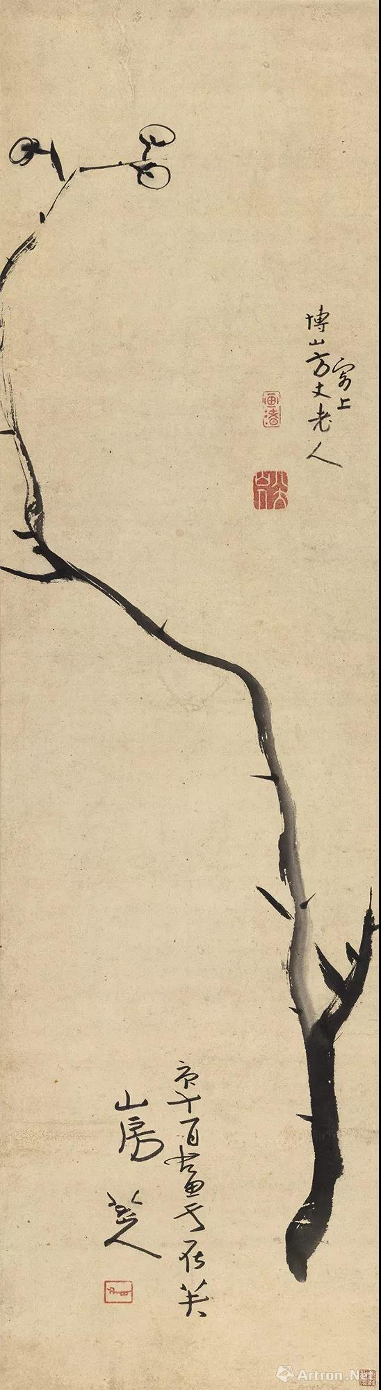 朱耷 《墨梅图》 3450万元中国嘉德