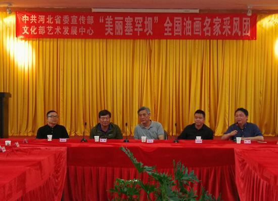 文化部艺术发展中心副主任、中央美院硕士生导师林茂先生主持会议