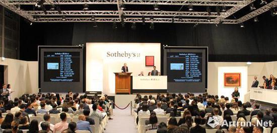 2018年香港蘇富比现当代艺术部分共收获12.8亿港元,为近年最高值