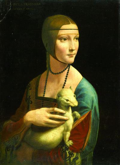 抱银鼠的女子(油画)意大利列奥纳多·达·芬奇恰尔托雷斯基博物馆藏
