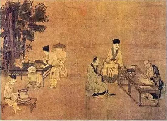 刘松年 《撵茶图》(南宋)