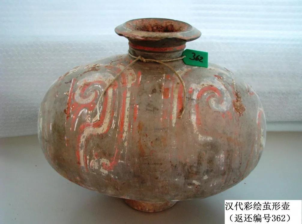 这是一个汉代陶猪俑(返还编号248)。