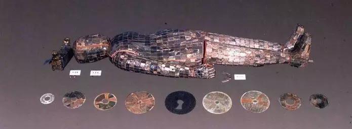 镶玉铜枕 西汉1968年河北满城中山靖王刘胜墓出土现藏于河北省博物馆