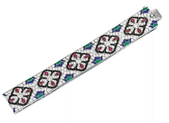 宝石配钻石手链, 梵克雅宝(VANCLEEF & ARPELS), 1925年