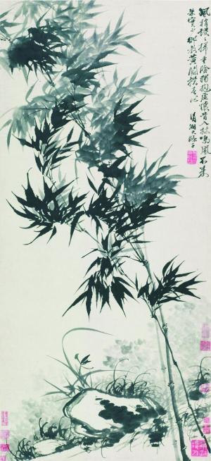 石涛《兰竹当风》(2009年匡时2875万元成交,张大千、王季迁旧藏)