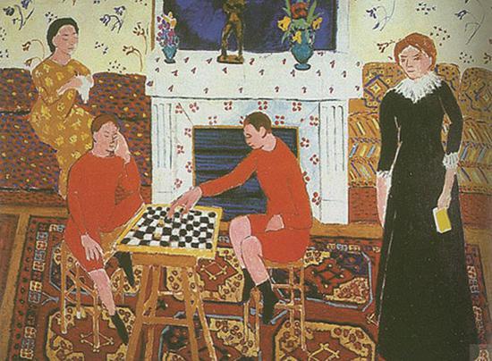 马蒂斯?画家的家庭?1911年
