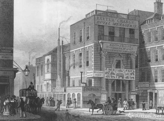 ▲苏富比首次拍卖会在当时伦敦河岸街的雅息特交易所举行