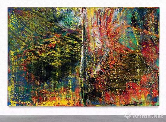 ▲格哈德·里希特《抽象画》
