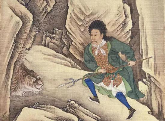 《胤禛行乐图》之刺虎