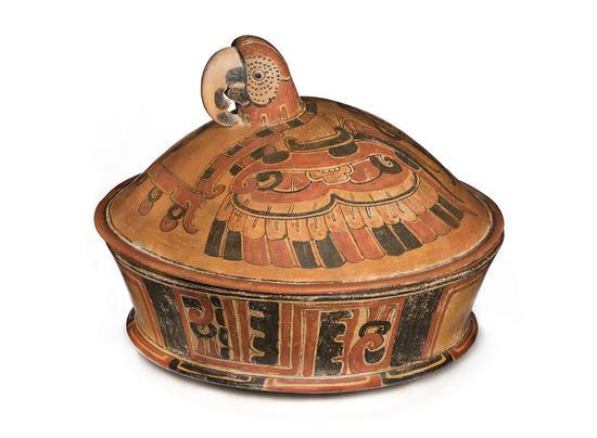 金刚鹦鹉形捉手带盖陶罐