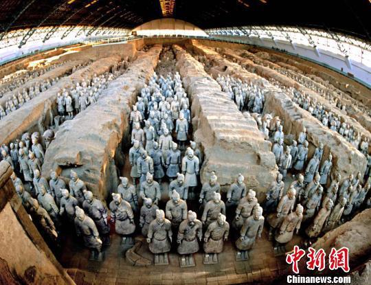 秦始皇帝陵兵马俑坑。陕西省文物局