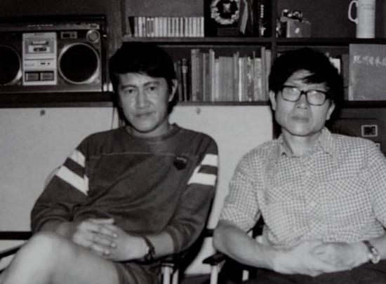 木心与潘其流1980年在沪上