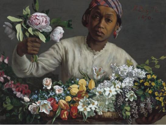 Frédéric Bazille,Young Woman with Peonies,1870