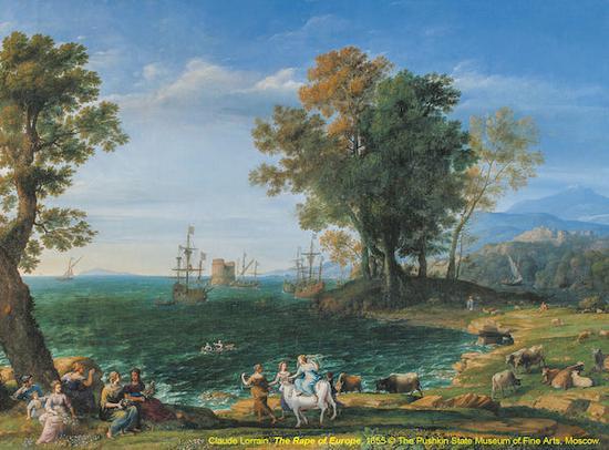 《掳掠欧罗巴》(The Rape of Europe) 克劳德·洛罕(Claude Lorrain )1655