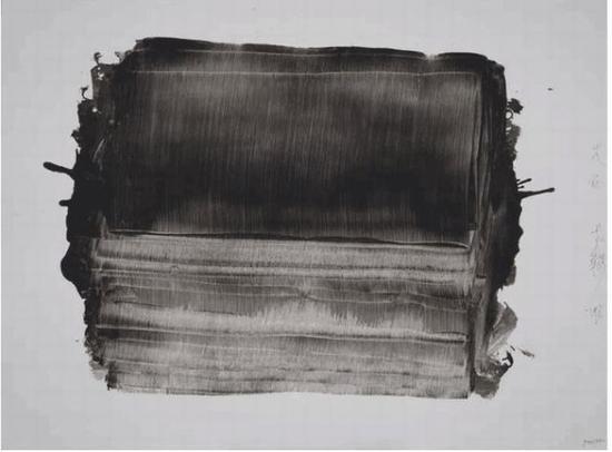 天石 老赫 硬质纸水墨 90×120 cm 2018