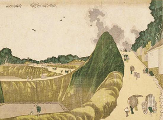 葛饰北斋画 九段牛之渊 江户时代(19世纪) 东京国立博物馆藏