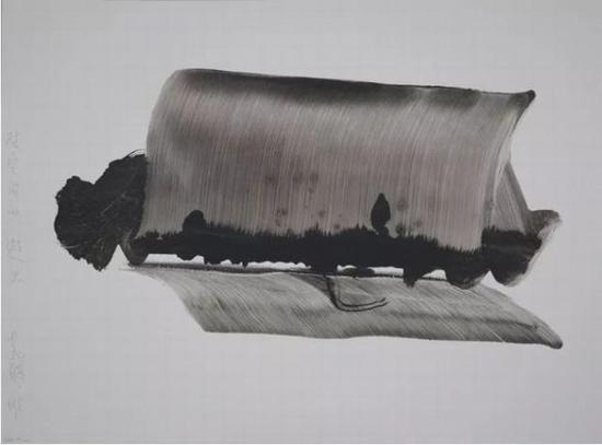 对空间的避思 老赫 硬质纸水墨 90 × 120 cm 2018