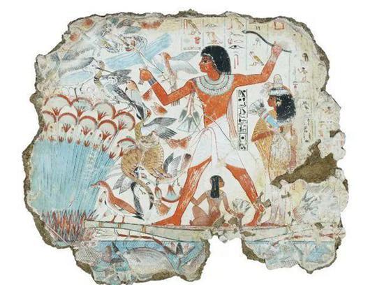 图片说明:古埃及文明:内巴蒙花园壁画