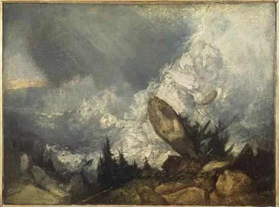 威廉·透纳《格里松山的雪崩》布面油画 90×120cm 1810年