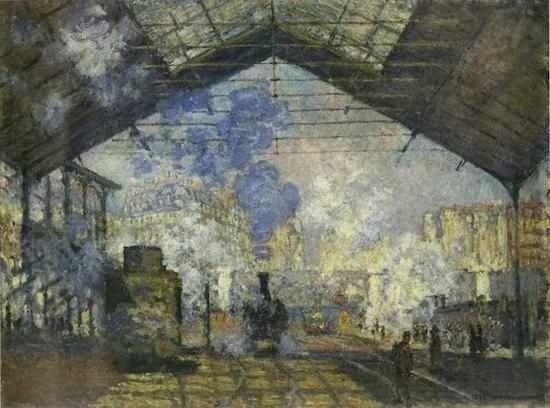 焦点透视:法 莫奈《巴黎火车站》