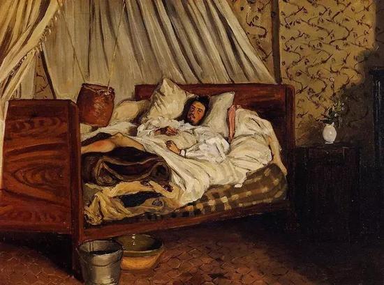 巴齐耶《简易的野战医院》,布面油画,1865年(模特为莫奈)