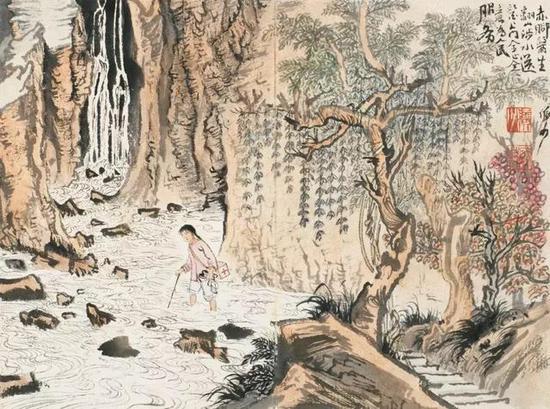 第五开描绘赤脚医生,翻山涉水,送医上门;
