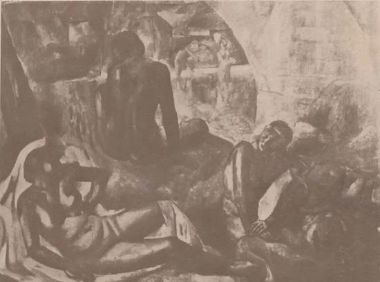 《人体》吴大羽 油画 《中华月报·西湖艺专画展特辑(一)》1934年第2卷第四期,1页 《中华日报新年特刊·西湖艺专画展特辑(一)》1934年新年特刊,84页