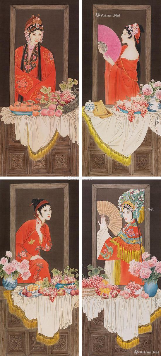 崔景哲2017年作 中国红—镜花缘系列