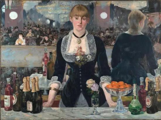 ▲ 福利·贝热尔的吧台 96x130cm 布面油画 1881-1882