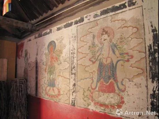 修复前的清代壁画