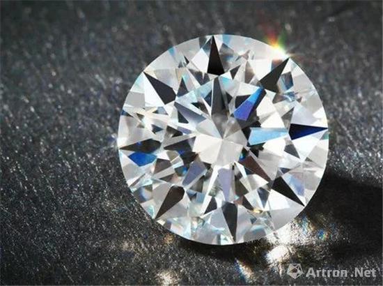 8.01克拉 圆形足色全美Type Ⅱa钻石,成交价:747.5万元