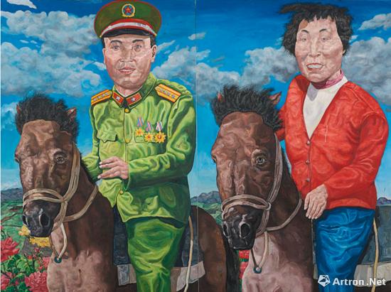 刘炜 《革命家庭系列:云游时光(双联作)》 3558.7万港币