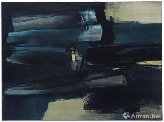 拍品编号8 皮耶·苏拉吉 (1919年生) 《画作97 x 130公分,1962年6月5日》