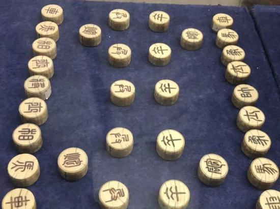 象牙象棋子,明代,南京博物院藏