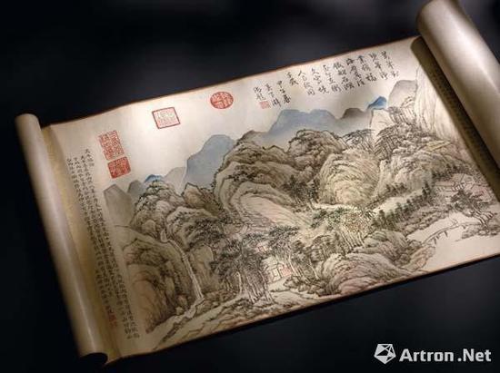 清 钱维城 《台山瑞景》 1.47亿港币香港蘇富比拍卖