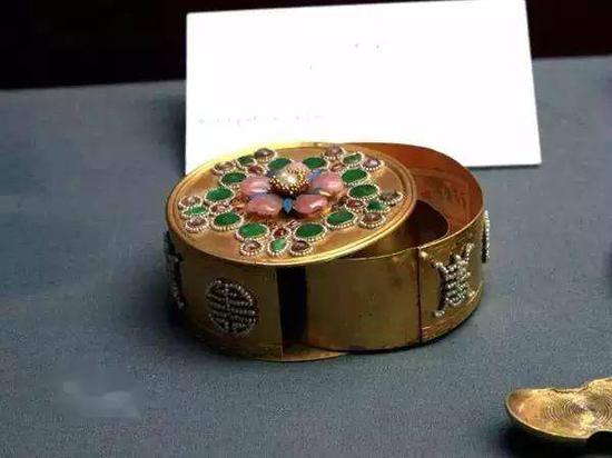 金錾石米珠圆盒