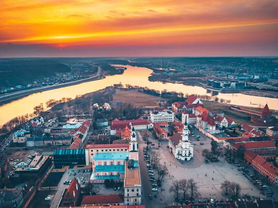 Magic spring sunset, Kaunas, Lithuania