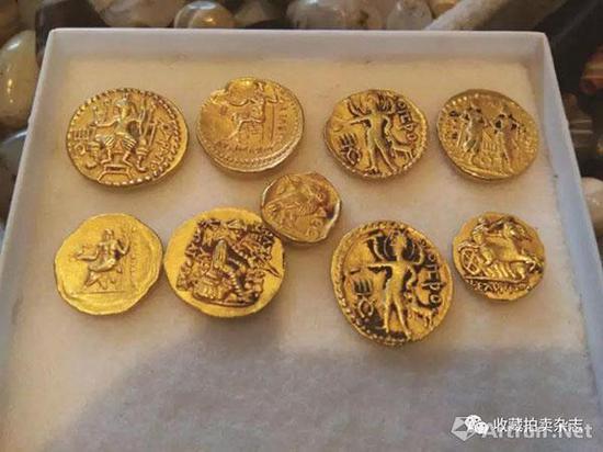 | 中亚商人带到国内市场上的假贵霜金币、假希腊金币