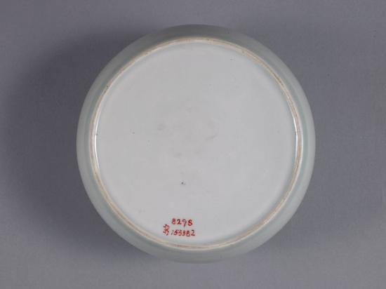 翠青釉罐罐底